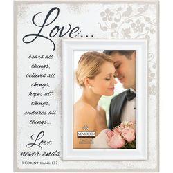 Malden 4'' x 6'' Love Never Ends Photo Frame
