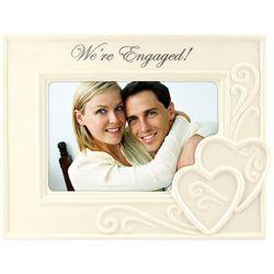 Malden 4'' x 6'' We're Engaged Photo Frame
