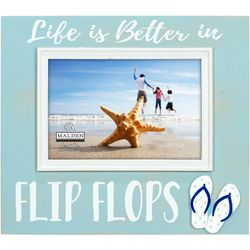 Malden 4'' x 6'' Life In Flip Flops Photo Frame