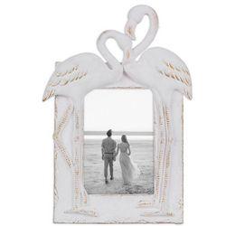 Young's 4'' x 6'' White Flamingo Photo Frame
