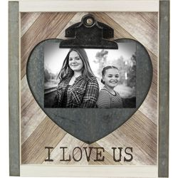 Young's 4'' x 6'' I Love Us Clip Photo Frame