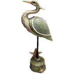 Unison Gifts 17'' Mosaic Heron Figurine