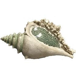 Unison Gifts Mosaic Conch Shell Figurine