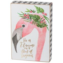 Primitives By Kathy Be A Flamingo Box Wood Art