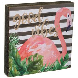 Primitives By Kathy Good Vibes Flamingo Box Wall Art