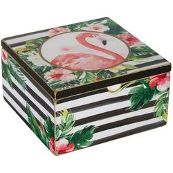 Primitives By Kathy Flamingo Trinket Box