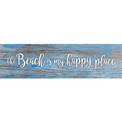 P. Graham Dunn Beach Is My Happy Place Toothpick Wood Sign