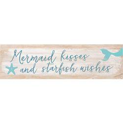 P. Graham Dunn Mermaid Kisses Toothpick Wood Sign
