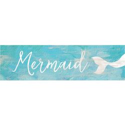 P. Graham Dunn Mermaid Toothpick Wood Sign