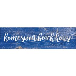 P. Graham Dunn Home Sweet Beach House Toothpick Wood Sign