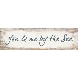P. Graham Dunn You & Me By The Sea Toothpick Wood Sign
