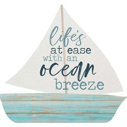 P. Graham Dunn Life's At Ease With An Ocean Breeze Wood Sign
