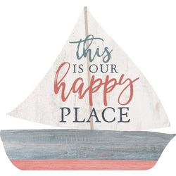 P. Graham Dunn Our Happy Place Sailboat Wood Sign