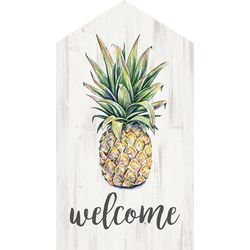 P. Graham Dunn Welcome Pineapple Wood Sign