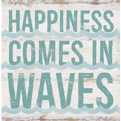 P. Graham Dunn Happiness Comes In Waves Wood Sign