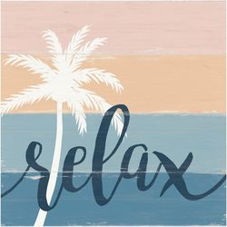 P. Graham Dunn Relax Palm Tree Wood Sign