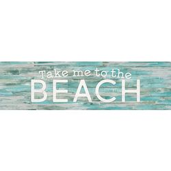 P. Graham Dunn Take Me To The Beach Toothpick Wood Sign