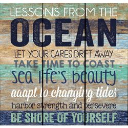 P. Graham Dunn Lessons From The Ocean Wood Sign