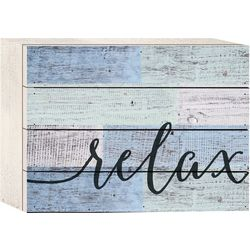 P. Graham Dunn Relax Wood Box Sign