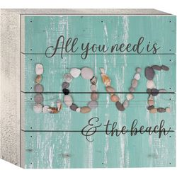 P. Graham Dunn All You Need Is Love Wood Box Sign