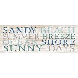 P. Graham Dunn Sandy Beach Wood Pallet Sign