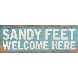 P. Graham Dunn Sandy Feet Welcome Here Wood Pallet Sign