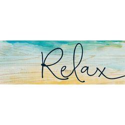 P. Graham Dunn Relax Wood Pallet Sign