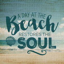 P. Graham Dunn The Beach Restores The Soul Pallet Sign