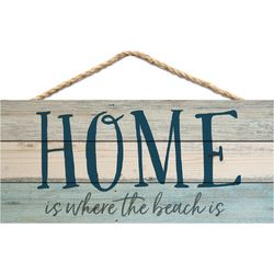 P. Graham Dunn Home Is Where The Beach Is Hanging Wall Sign
