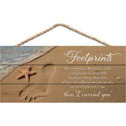P. Graham Dunn Footprints Hanging Wall Sign