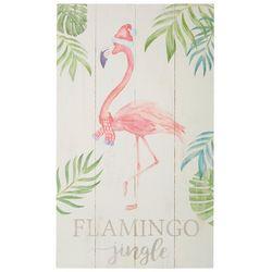 P. Graham Dunn Flamingo Jingle Plank Wall Art