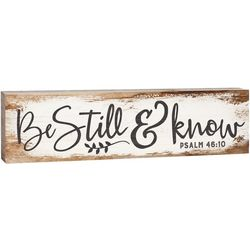 P. Graham Dunn Be Still & Know Wood Sign