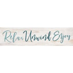 P. Graham Dunn Relax Unwind Enjoy Toothpick Wood Sign