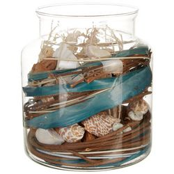 Elements Bonsai Flower & Shells Decorative Jar
