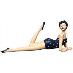 Fancy That Sandy Blues Lying Beach Lady Figurine