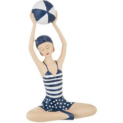 Fancy That Sandy Blues Lady With Beach Ball Figurine