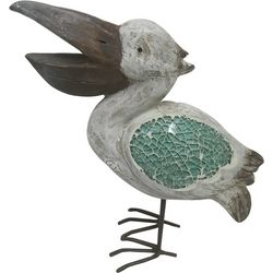 Fancy That Seascape 10'' Mosaic Pelican Figurine