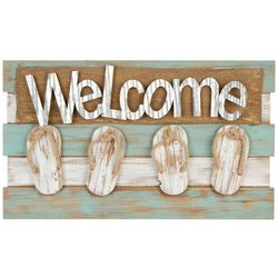 Fancy That Seascape Welcome Flip Flop Wall Sign