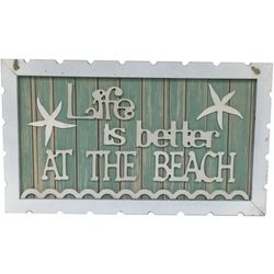 Fancy That Seascape Life Is Better At The Beach Wall Sign