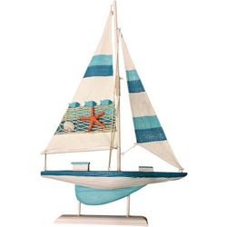 Fancy That Sail Away Stripe Sailboat Figurine