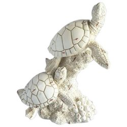 Fancy That Natures Coast Double Turtle On Coral Figurine