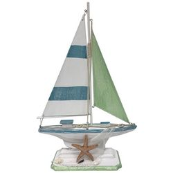 Fancy That Mermaid Crossing Large Starfish Sailboat Figurine