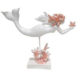 Fancy That Mermaid Crossing Mermaid & Coral Figurine