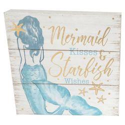 Fancy That Mermaid Crossing Mermaid Kisses Block Sign
