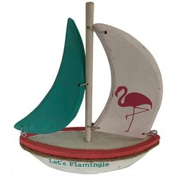 Fancy That Small Flamingo Sailboat Figurine