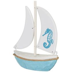Fancy That Coastal Core Seahorse Sailboat Figurine