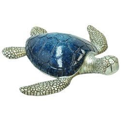 Fancy That Nautical Beach Medium Navy Sea Turtle