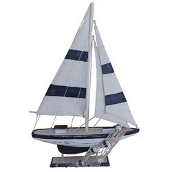 Fancy That Nautical Beach Striped Sailboat Figurine