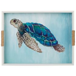 Fancy That Nautical Beach Large Turtle Serving Tray