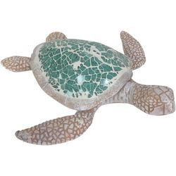 Fancy That Palm Breeze Mosaic Sea Turtle Figurine